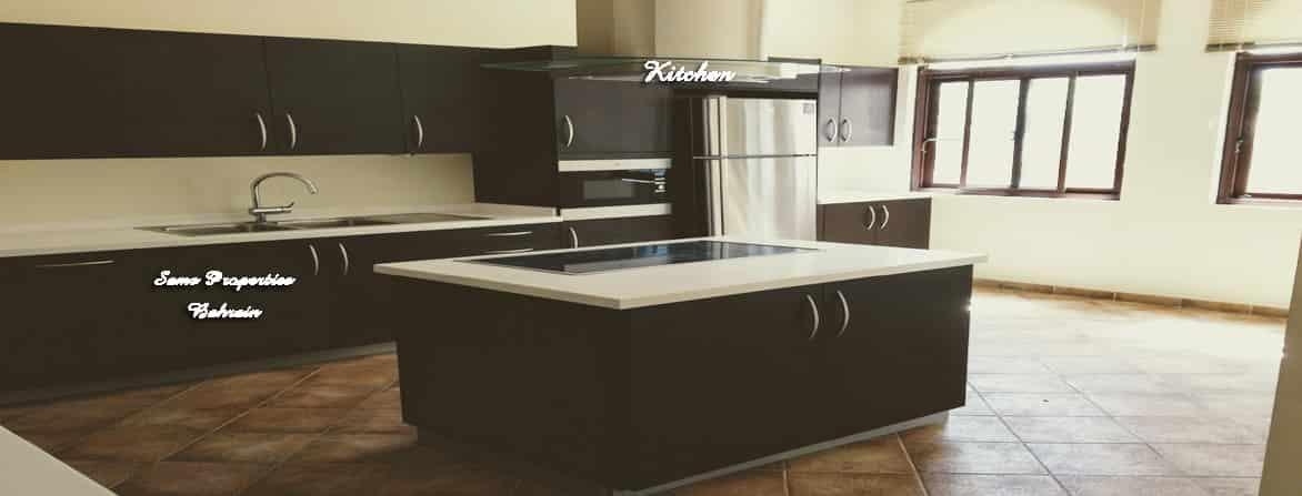 furnished villa kitchen