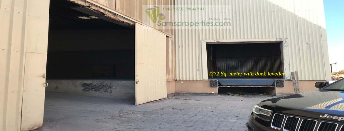 warehouse with dock leveler