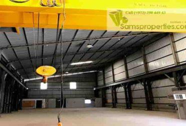 workshop with crane