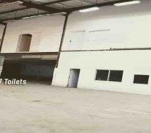 warehouse with toilets
